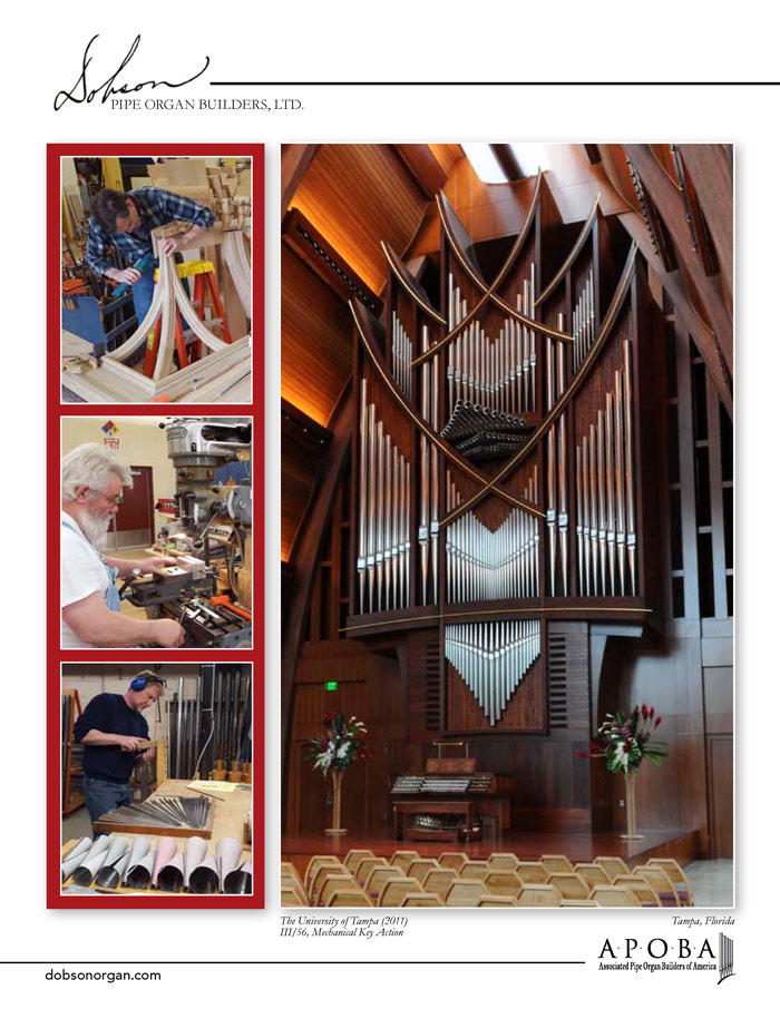 Prospectus Page 2 for Dobson Pipe Organ Builders