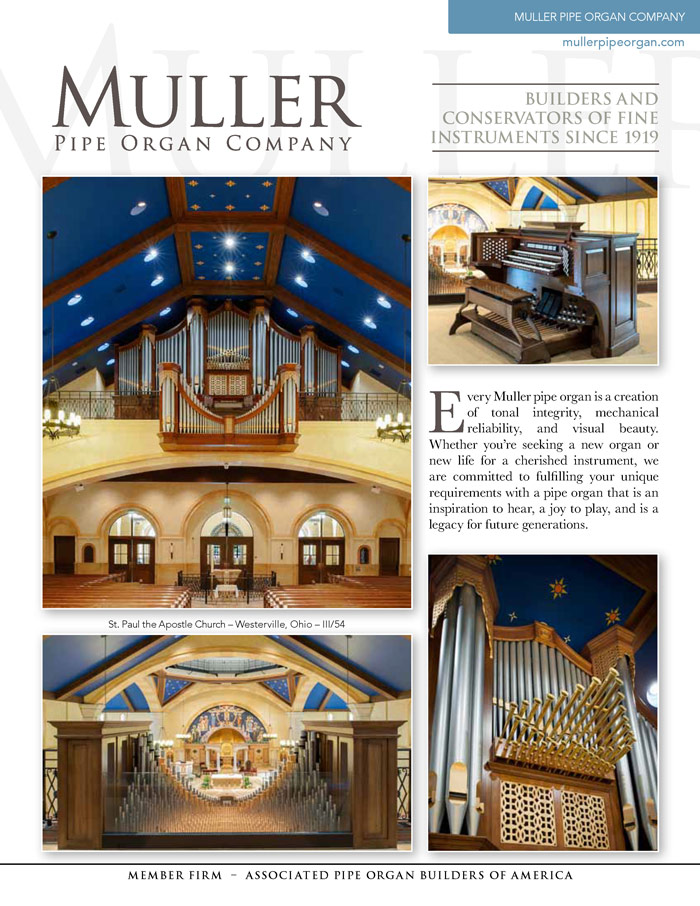 Prospectus Page 1 for Muller Pipe Organ Co